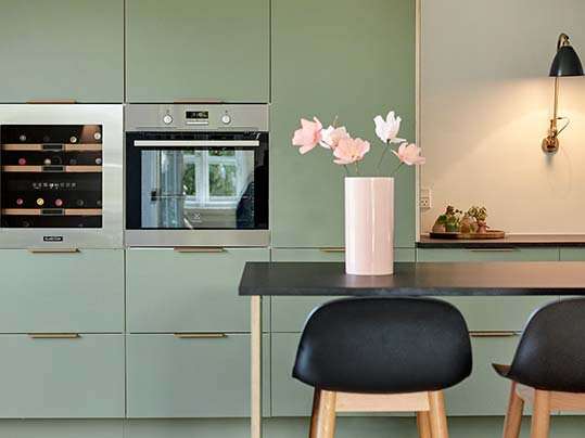 Køkkenhavn Furniture Linoleum kitchen olive