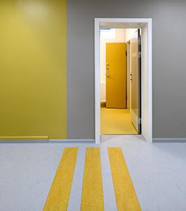 Danish hospital corridor