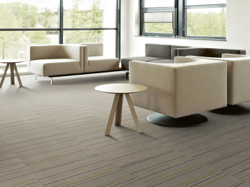 Flotex Linear flocked flooring tiles