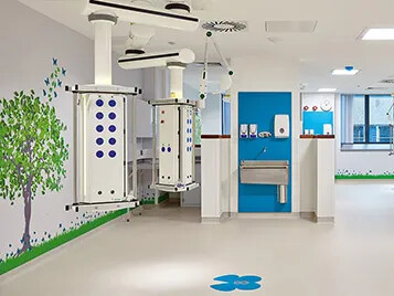 Glan Clwyd - Homogeneous vinyl flooring for healthcare