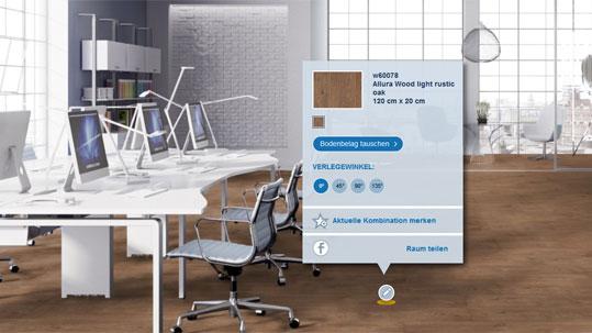 Forbo Floorplaner - Verlegen Sie Forbo Bodenbeläge