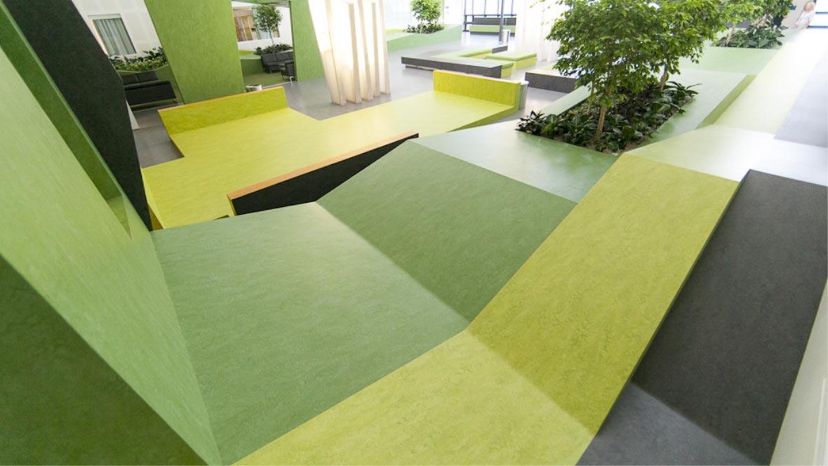 Waikato Hospital Atrium  - Natural flooring for healthcare