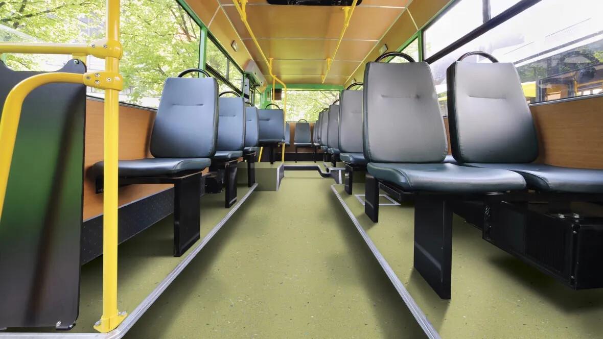 Bus interior Stef Safety vinyl