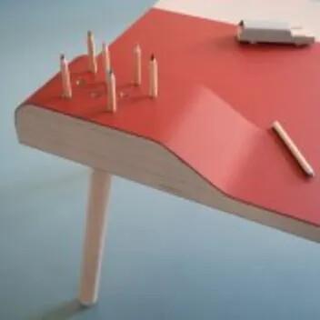 Revêtement marmoleum pour décoration de table