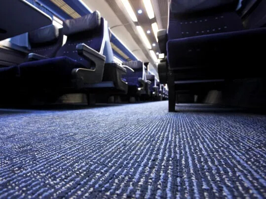 East Midlands Trains Tessera carpet - rail flooring