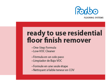 Ready to use Finish Remover