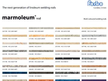 Marmoleum welding rods