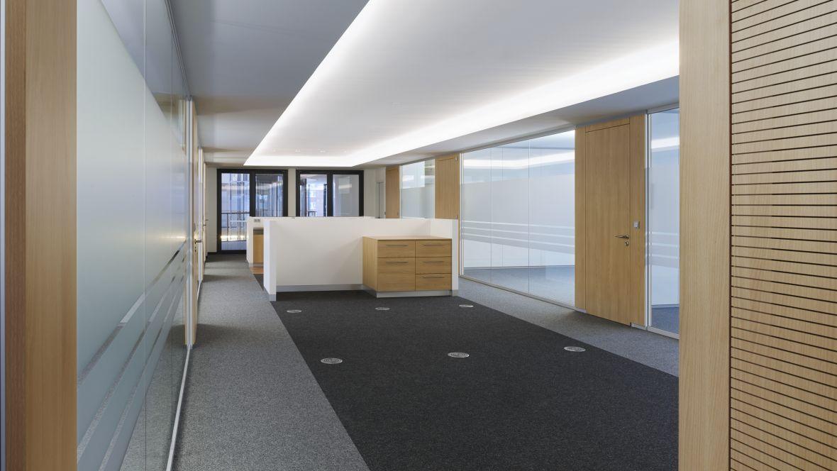 dSPACE GmbH Paderborn Bürofläche mit Textilboden – Forbo Nadelvlies Forte