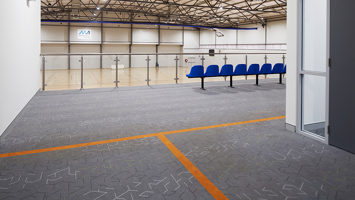 Mundaring Arena - Flotex planks triad