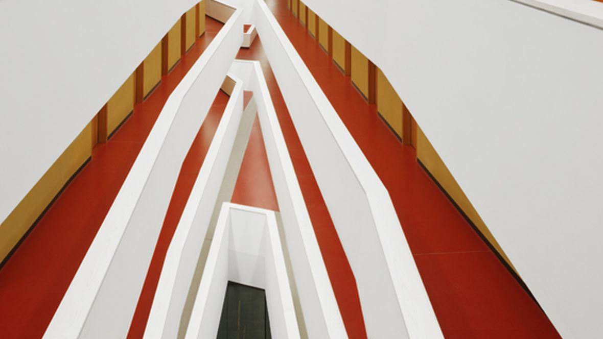 Bundesministerium für Ernährung und Landwirtschaft Berlin Vogelperspektive auf Etagen in einem Gebäude - Forbo Marmoleum Walton