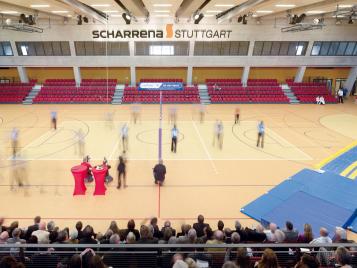 SCHARRena Stuttgart mit Sport-Linoleum