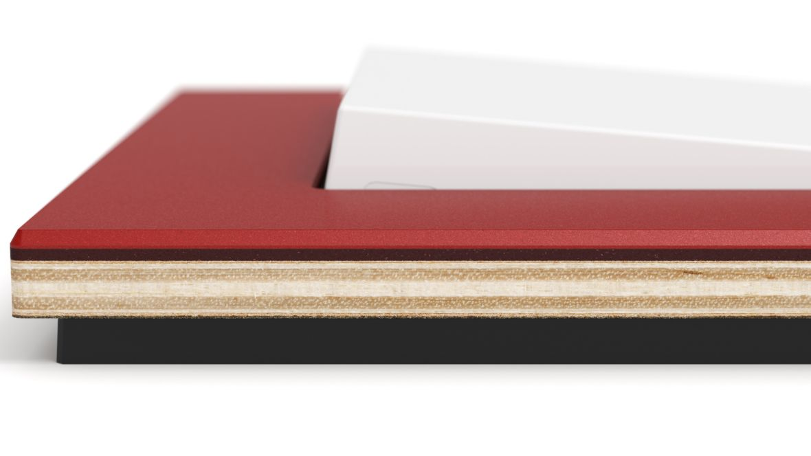 "Gira Schalterserie ""Esprit"" Close-up Schalterumrandung – Furniture Linoleum"
