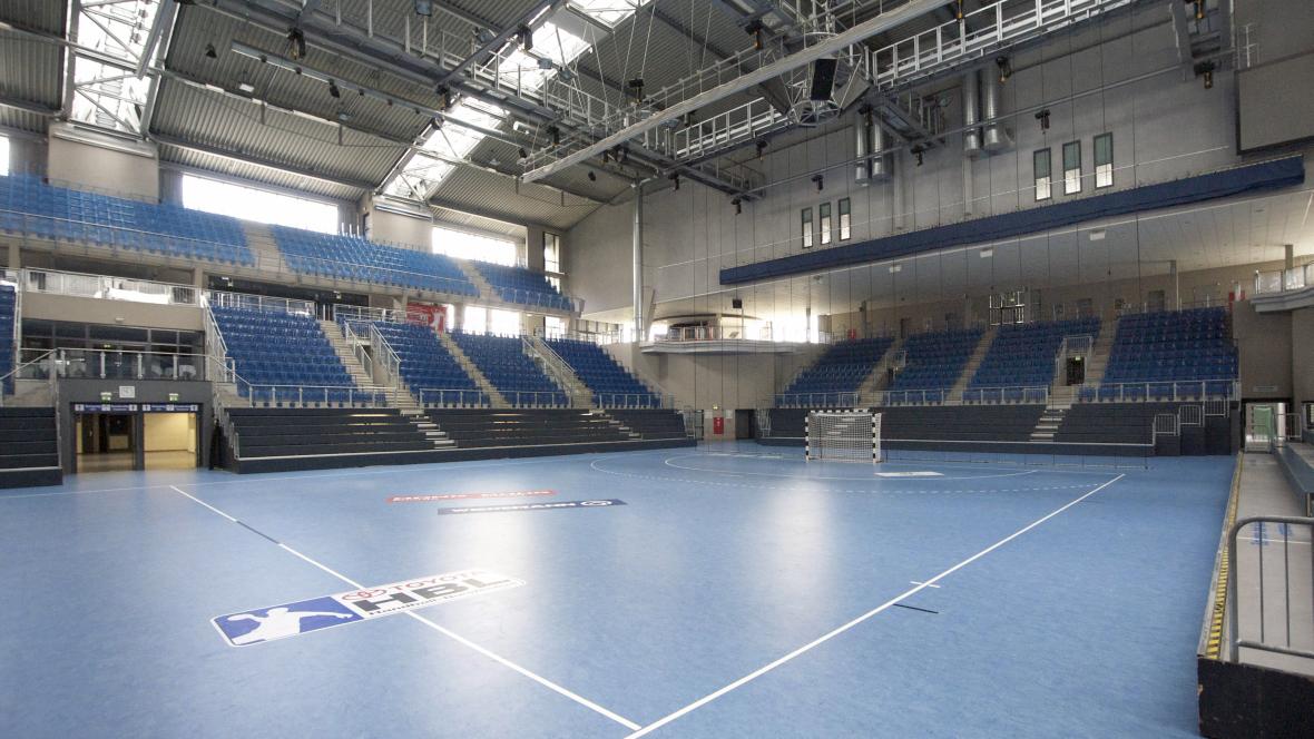Bördelandhalle Magdeburg Handballfeld - Forbo Marmoleum Sport