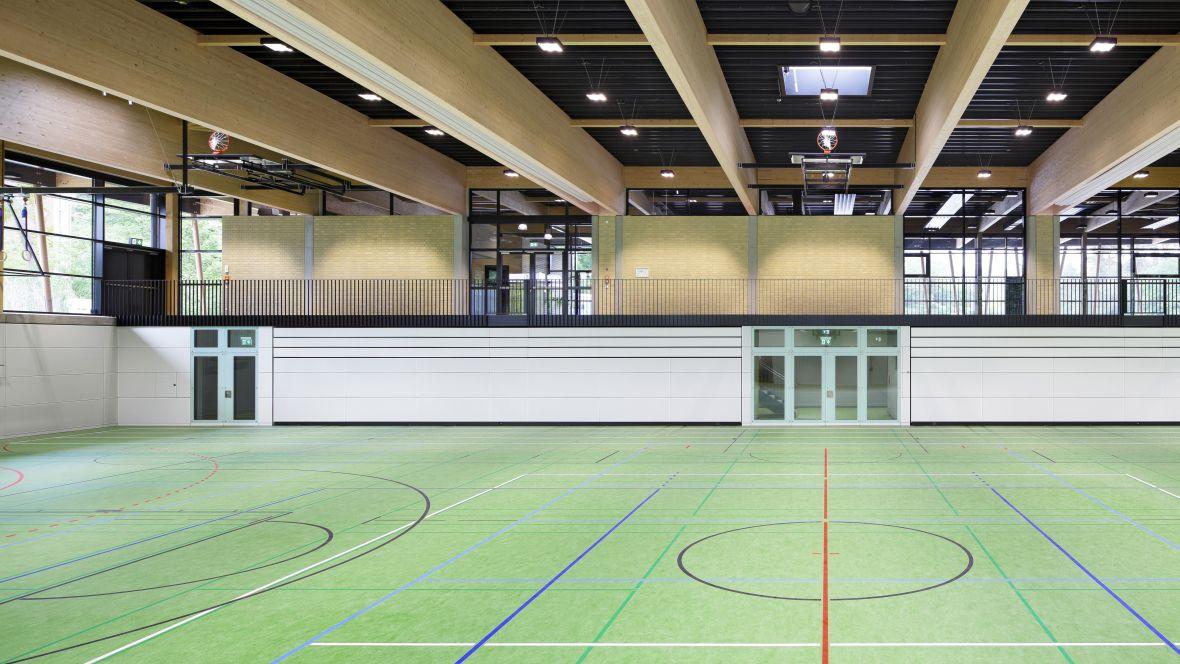 Sporthalle an der Düne Seeheim-Jugenheim Basketballfeld – Forbo Marmoleum Sport