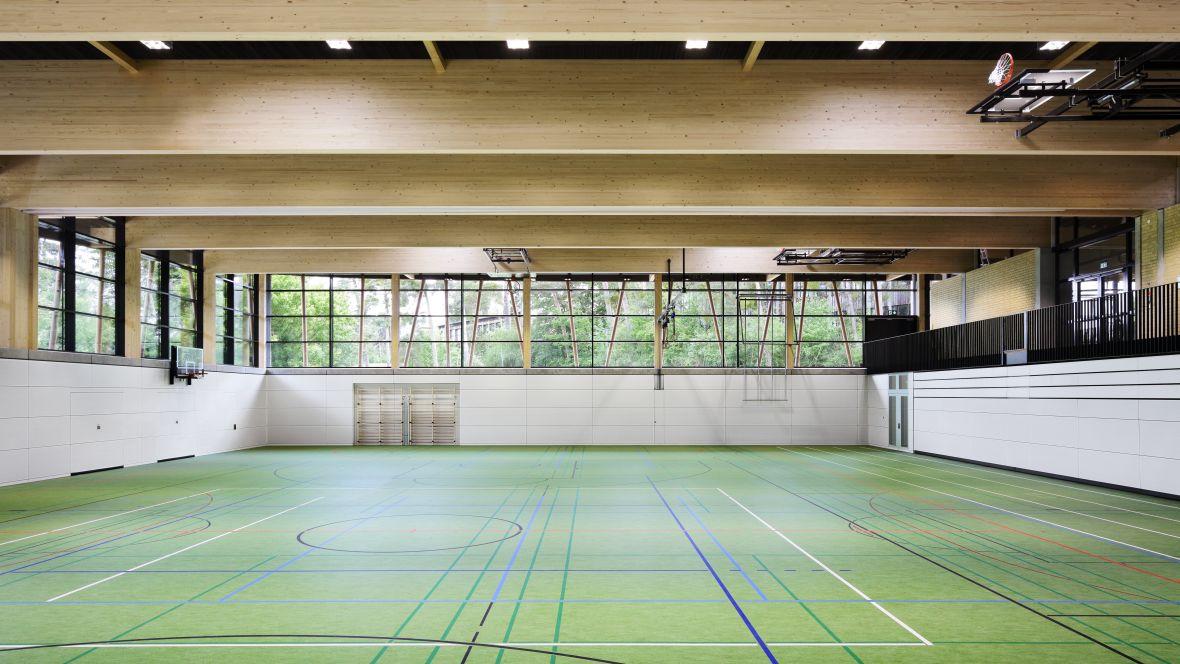 Sporthalle an der Düne Seeheim-Jugenheim Mehrzweckhalle – Forbo Marmoleum Sport