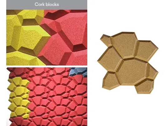 Cork blocks