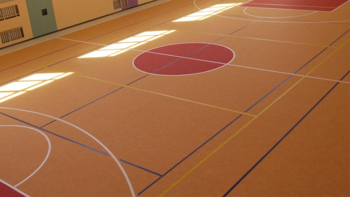 Sporthall at municipal school in Kazan.