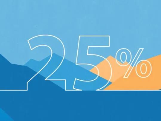 Mindske vores miljøpåvirkning med 25 %