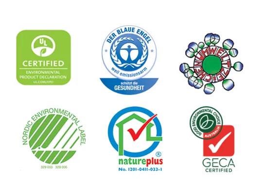 Australia eco labels for marmoleum