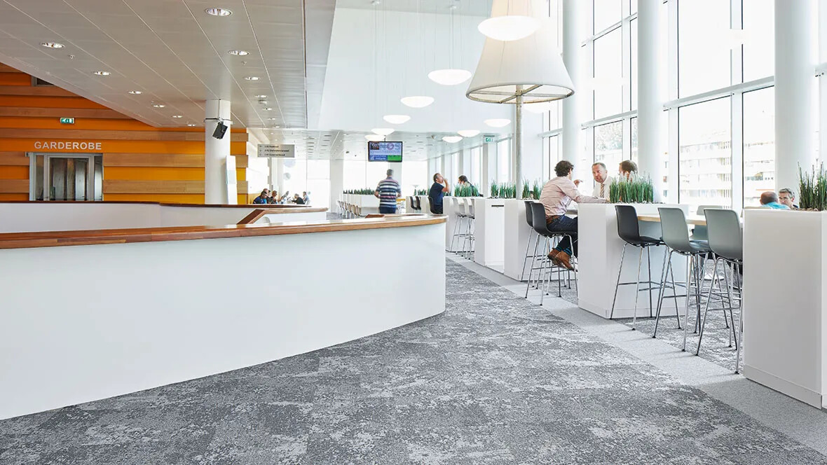 Tessera Cloudscape carpet tiles - office