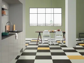 Marmoleum Click 633701-633707-633860-333251 kitchen.