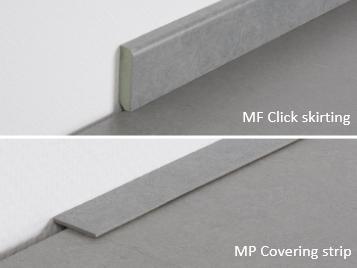 Marmoleum Click rodapiés