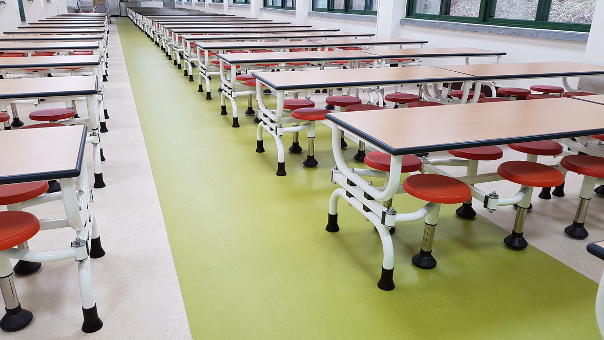 Seoul Girls' High School cafeteria - Korea