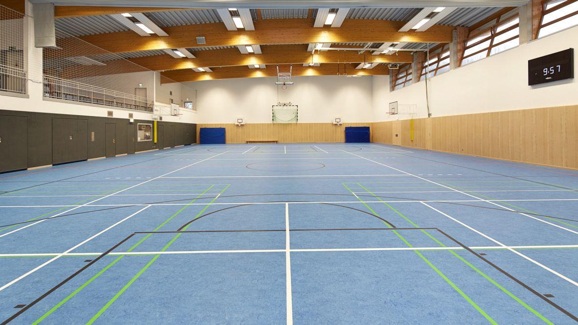 Störtebekerhalle Hamburg-Falkenberg Spielfeld – Marmoleum Sport
