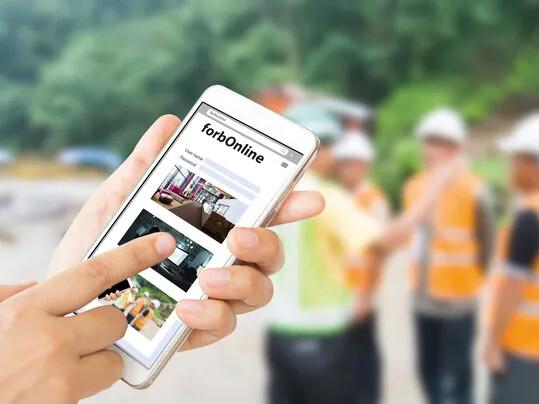 ForbOnline smartphone