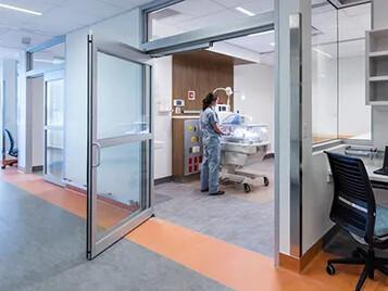 Marmoleum flooring in Chinook Regional hospital