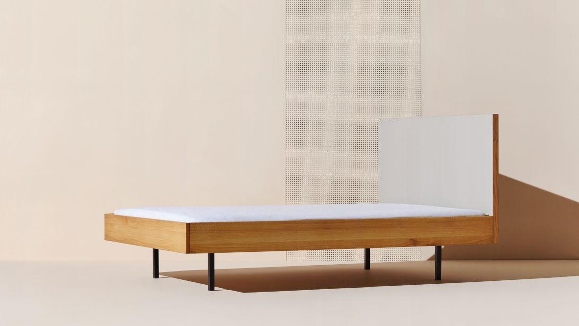 "Bett ""Unidorm"" Bartmann Berlin Katalogbild Bett- Forbo Furniture Linoleum"