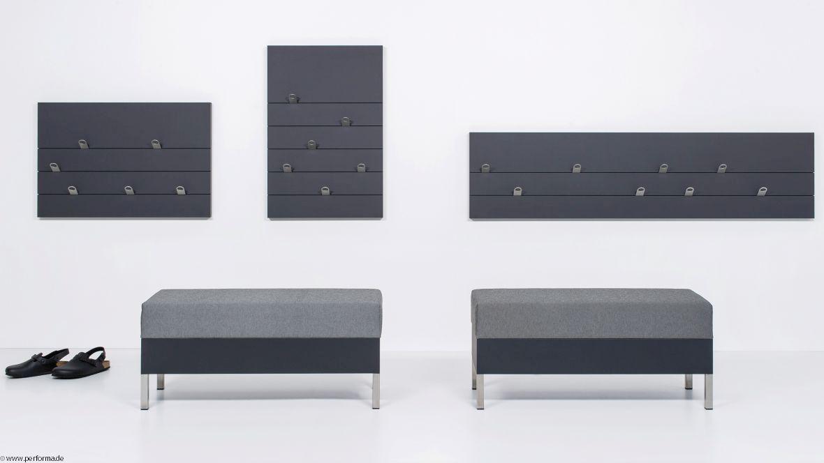 Möbelkollektion Performa Hocker und Wandelement – Forbo Furniture Linoleum