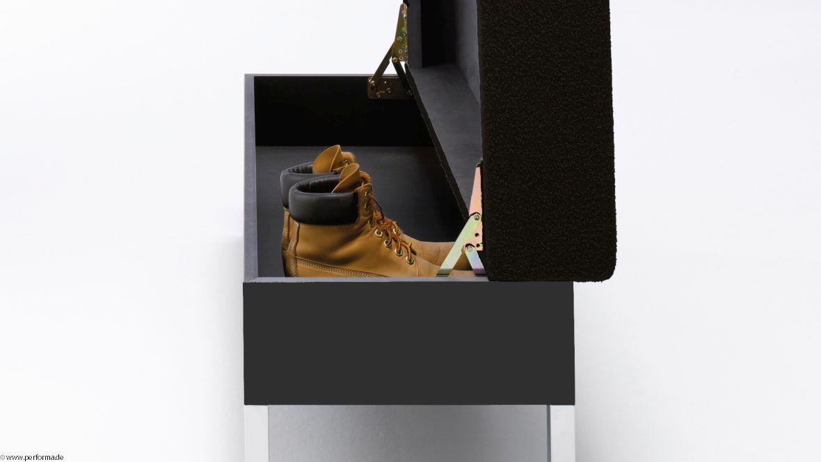 Möbelkollektion Performa Detailansicht Aufbewahrungsmöbel – Forbo Furniture Linoleum