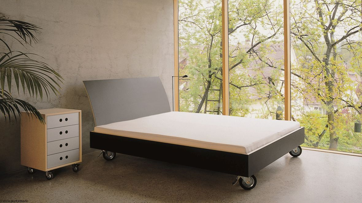 Möbelkollektion Performa Bett auf Rollen – Forbo Furniture Linoleum