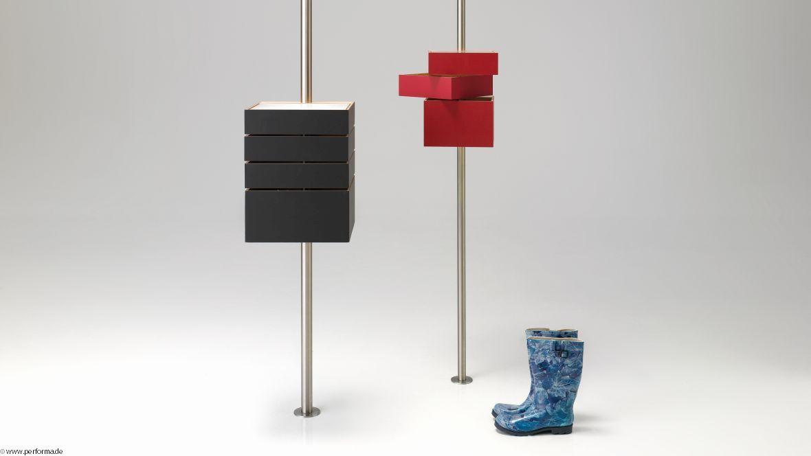 Möbelkollektion Performa Regal mit Schubladen – Forbo Furniture Linoleum