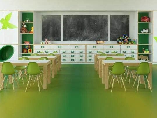 Colourful Acoustic Vinyl Flooring - Primary school
