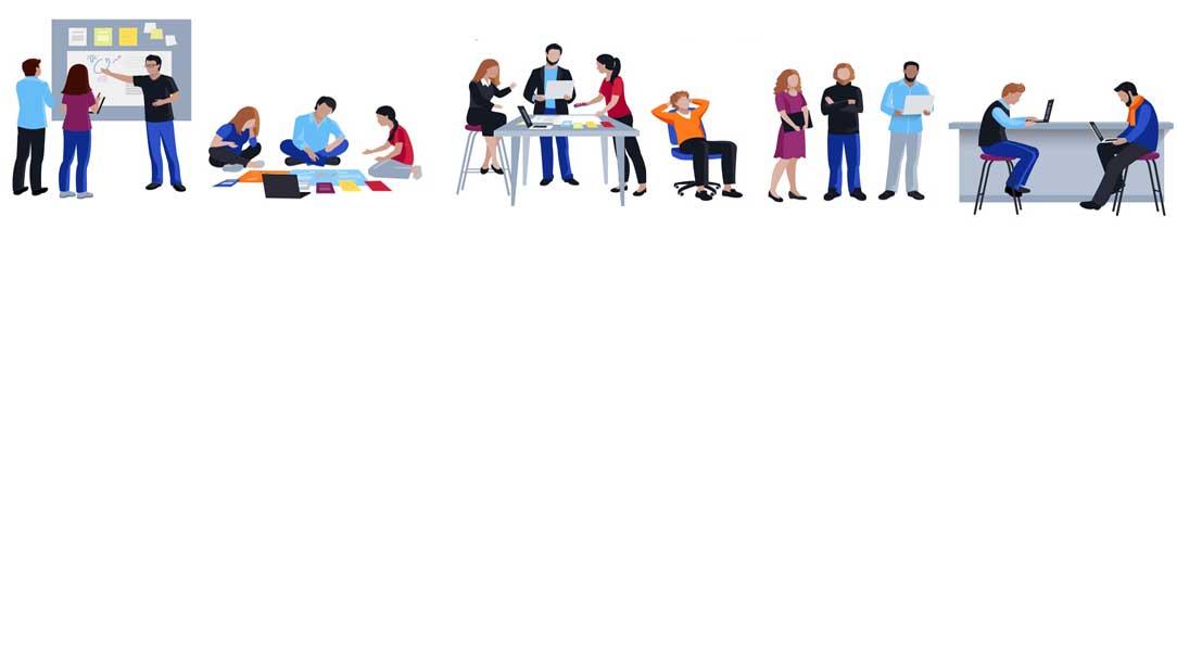 Arbeitsumwelten ©macrovector - stock.adobe.com