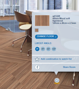 Play with our floors in various room scenes