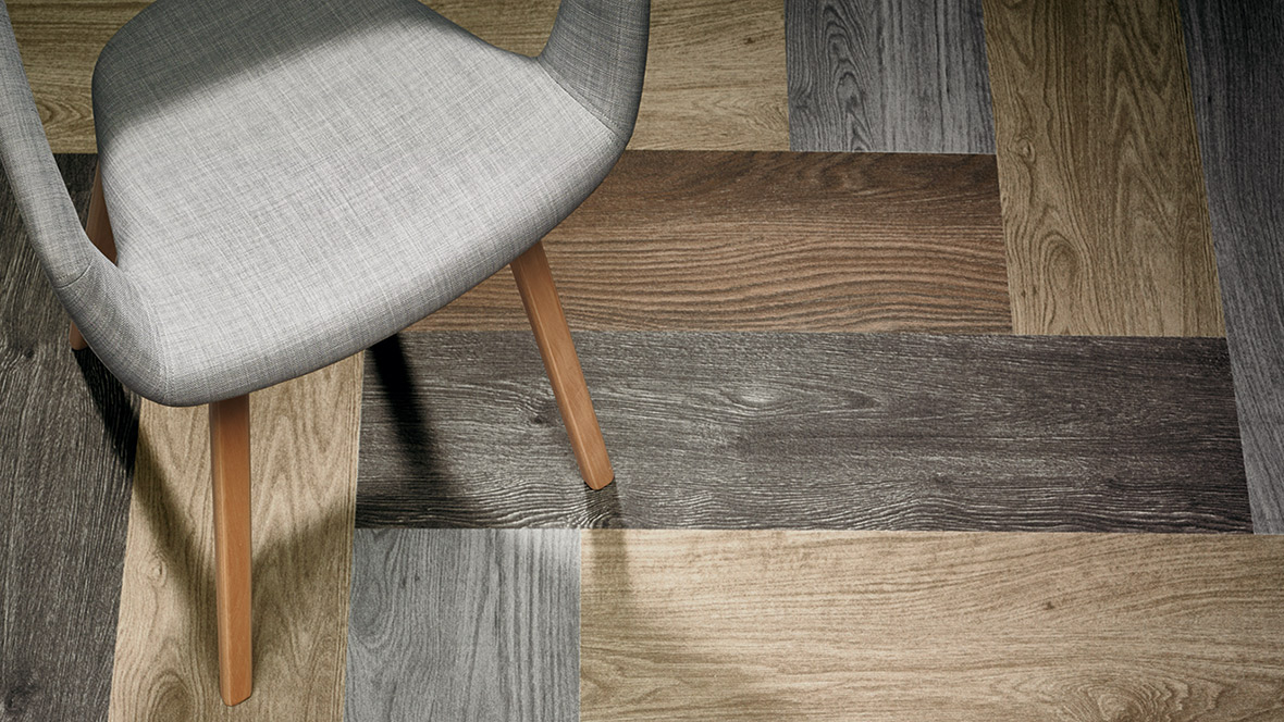 Flotex planks Wood herringbone