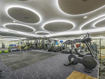 gym flooring - flotex flocked flooring