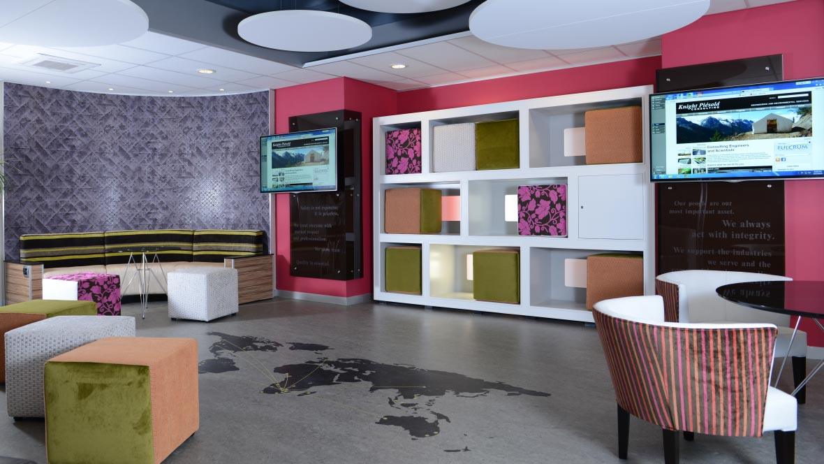 Office - marmoleum aquajet flooring