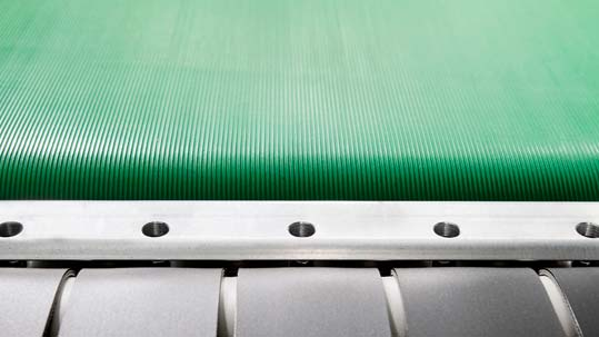 Logistics: Forbo Siegling Biobelt conveyor belts made of renewable raw materials.