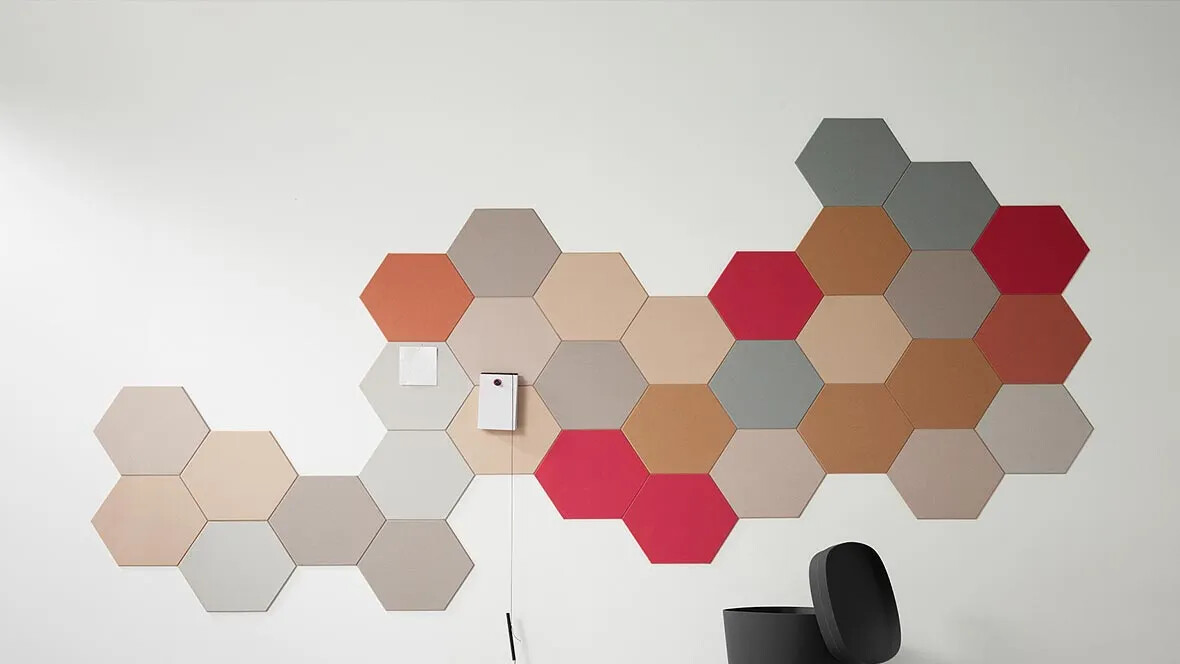 Bulletin Board - Pin board hexagons