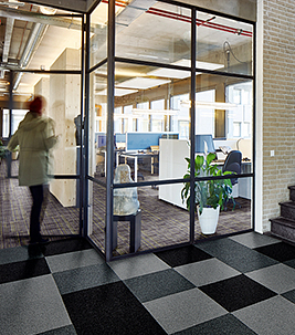 Coral entrance matting - Commercial office flooring
