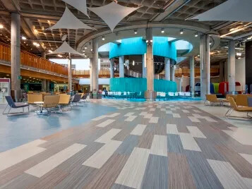 Glasgow Caledonian University with Marmoleum