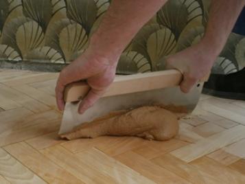 Wood putty parquet