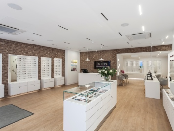 Leightons Opticians retail store - vinyl planks retail flooring
