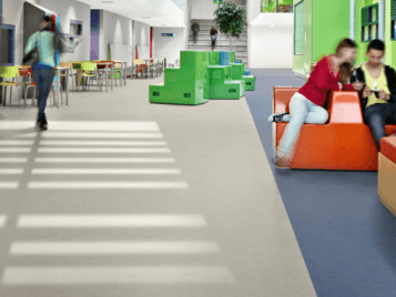 Heterogeneous vinyl flooring by Forbo Flooring Systems