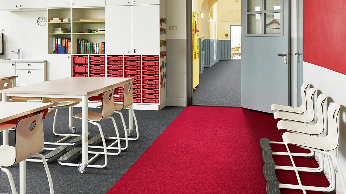 Flotex Colour tiles - 546031 Cherry and 546006 Grey