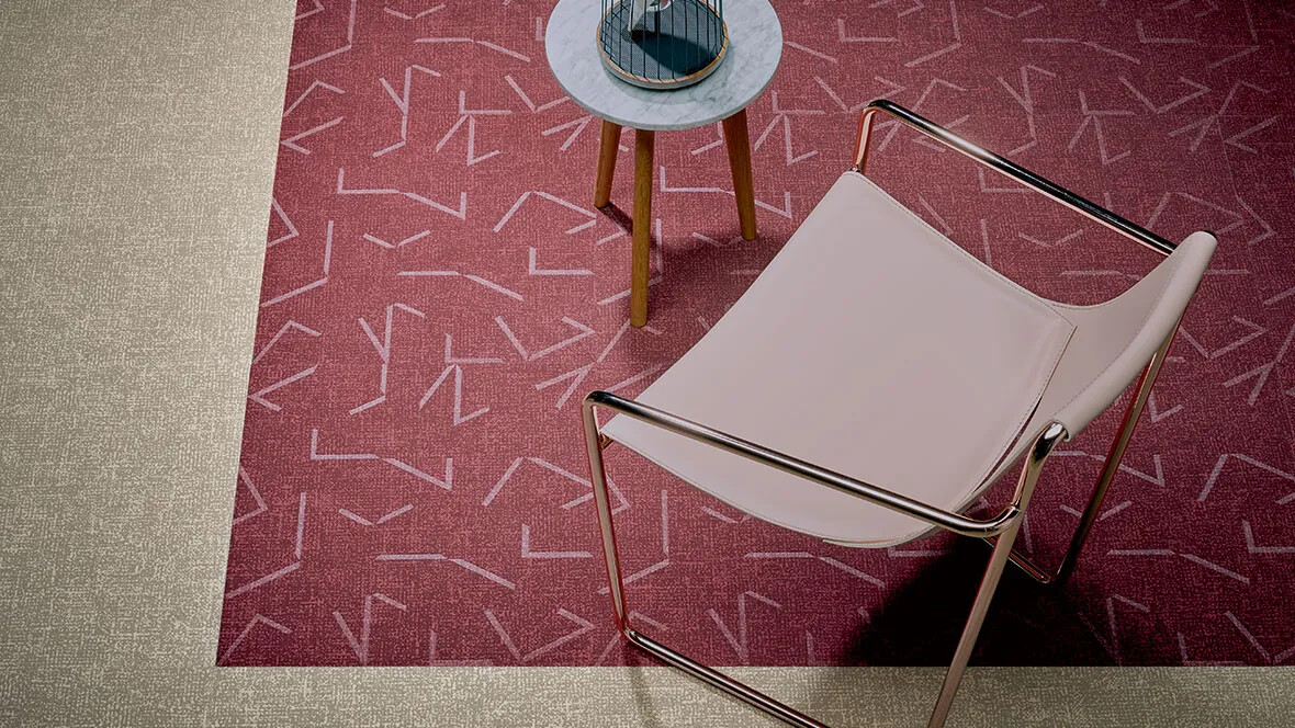 Flotex Colour floor - 546517 Berry (glass embossed), 546011 Pebble